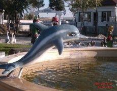 Küçük Yunus Balık Heykeli Fish Sculpture, Sculptures, Dolphins, Whale, Statue, Animals, Whales, Animales, Animaux