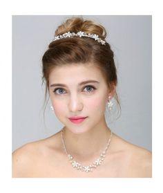 Set tiara, colier si cercei Romance   Pret:219lei  #tiara