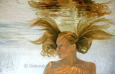 New Print - Contemporary Realism Art Print, Invincible, Water Portrait Painting, Female Portrait