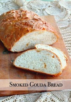 Smoked Gouda cheese bread is chewy and smoky with a crispy crust. Grilled cheese sandwiches anyone? Gouda Recipe, Smoked Gouda Cheese, Cheese Bread, Cheese Dishes, Vegan Cheese, Southern Recipes, Southern Food, Southern Comfort, Bread Baking