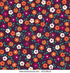 Seamless floral pattern. Flowers texture. Daisy. by Markovka, via ShutterStock