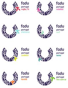 FADU's logo system features highlighted elements of the mark Identity Design, Visual Identity, Brand Identity, Equality Tattoos, Destination Branding, Anniversary Logo, Logo Branding, O Logo, Branding Design