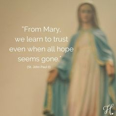 Because a lot of the time you just need your Blessed Mother. Picture from @heartofmarywf #catholic #inspirational #jp2 #BlessedMother #MotherMary #strength