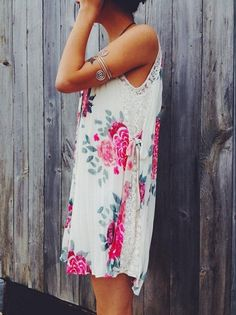 Floral dress by Free People