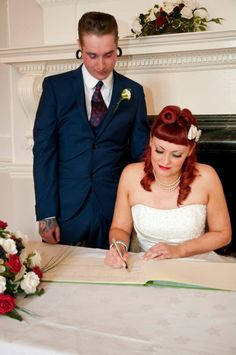 Rockabilly Wedding Hair | ve been looking forward to blogging this wedding for a while ...