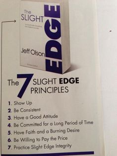 make the slight edge work for you!