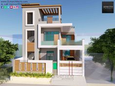 We don't think that architecture is only about shelter, is only about a very simple enclosure. We design as it should be able to excite you, to calm you, to make you think. Duplex House Plans, Duplex House Design, 3d Design, Modern Design, House Elevation, Front Elevation, Low Cost Housing, House Front, Interior Design