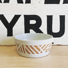 Posted this bowl on Etsy yesterday. I used a lot of tape and a lot of wax, but worth it!  #handmademn #meetyourmaker #ceramics #modernhome #waxresist