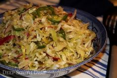 FIRE AND ICE COLESLAW  try adding slivered almonds or sunflower seeds and maybe crunchy noodles (ramen?)