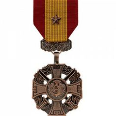 The Republic of Vietnam Gallantry Cross Medal (with Bronze Star) was a decoration presented by South Vietnam to recognize valor and gallantry while serving in active combat against enemy forces. The medal was issued in four degrees represented by the type of device worn on the medal. The Gallantry Cross with Bronze Star indicates a Regiment or Brigade citation.
