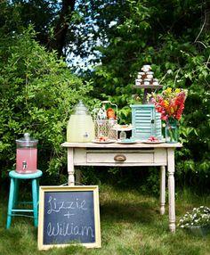 Farm party drinks table?