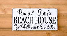 Beach Decor Personalized Beach House Sign Outdoor Family Last Name Date Custom Nautical Decor Gift Coastal Cottage Wood Signs New Christmas