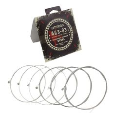 ammoon AGS-03 Electric Guitar Strings Steel Wire Core Coated Nickel-Chromium Alloy Wire 6-Pack (.011-.050)