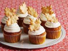 What could be better than pumpkin pie? How about pumpkin pie cupcakes? These super-moist treats are almost like steamed pudding, topped and filled with cream cheese-thickened whipped cream. Afraid you'll miss the crust? There it is, in the form of a crunchy pie-dough garnish. Get the full Recipe >>