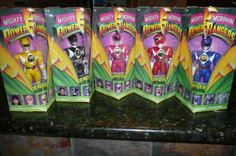 Amazon.com : Mighty Morphin Power Rangers Set of 5 Jason Billy Trini Kimberly Zach : Toy Figures : Toys & Games