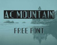 AC Mountain (Free Font) by Adrian Candela, via Behance #free #font #typography #mountain #display
