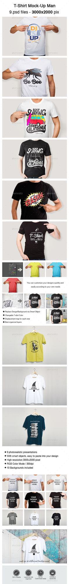 T-Shirt Mock-Up Man #design Download: http://graphicriver.net/item/tshirt-mockup-man/14318590?ref=ksioks