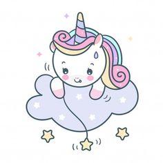 Vivid8 | Freepik Cute Unicorn, Chibi Unicorn, Baby Unicorn, Unicorn Art, Doodles Kawaii, Cute Kawaii Drawings, Unicorn Painting, Unicorn Drawing, Pink Unicorn Wallpaper