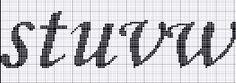 Ângela Bordados: alfabeto ponto cruz