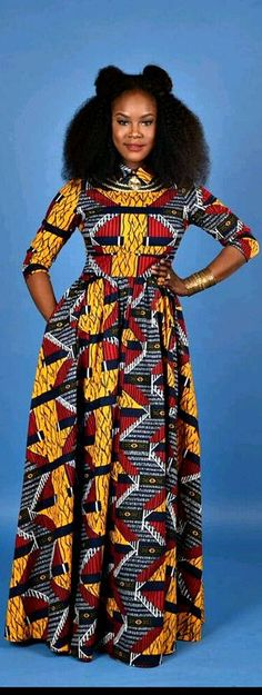 african print dresses African print dresses can be styled in a plethora of ways. Ankara, Kente, & Dashiki are well known prints. See over 50 of the best African print dresses. African Dresses For Women, African Print Dresses, African Attire, African Wear, African Fashion Dresses, African Women, African Prints, Ankara Fashion, African Style