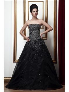 Elegant Strapless A-Line Floor-length Taline's Prom/Quinceanera/Ball Gown Dress