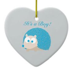 It's a Boy! Hedgehog Ornament