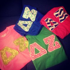 Made to order sorority greek lettered shirts on Etsy, $18.00