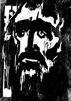 "Membership of the Nazi Party did not protect Emil Nolde, whose 1912 woodcut ""The Prophet"" is shown here. 1,052 of Nolde's paintings were removed from German museums, more than any other artist. https://irea.wordpress.com/2009/10/01/emil-nolde-el-profeta-the-prophet-1-912/"