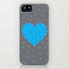 Cyan Heart iPhone & iPod Case by Papertookie