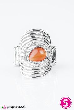 Belt it out Orange-Ring.  All jewerly and accessories are inlt $5.00Available on my website. Https://paparazziaccessories.com/52603