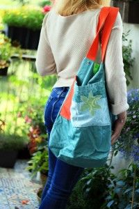 casual bag SPRING BIRD, aplication, inner page
