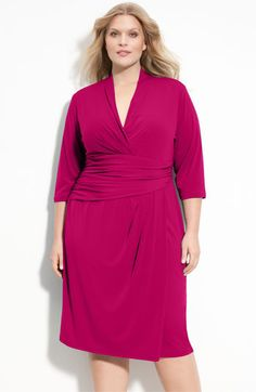 Suzi Chin for Maggy Boutique Faux Wrap Jersey Dress (Plus) | Nordstrom
