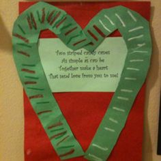 Candy Cane craft. Put a picture of your student, laminate, & send home as a parent gift.