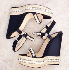 The City Wedge Louboutin Wedge Shoes, Shoes Heels, Pumps, Wedge Sandals, Cute Shoes, Me Too Shoes, Awesome Shoes, Louboutin Wedges, Peep Toe