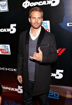 """Paul Walker at the premiere of the film """"Fast Five"""" in Moscow, Russia."""