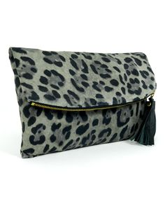 Leopard Print Clutch.....now YOU know I have an obsession with LEOPARD!!!!!!!
