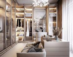 Master Bedroom on Behance Master Bedroom Closet, Master Bedroom Design, Home Room Design, Kids Room Design, Dressing Room Design, Aesthetic Room Decor, Luxury Closet, Modern House Design, House Rooms