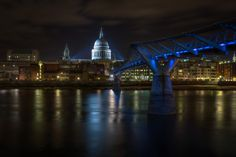 The Blue Bridge | The Millennium Bridge and St. Paul's Cathedral in the distance - London, UK