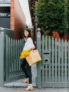 love this grey picket fence from est magazine