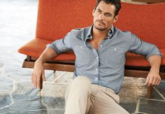 David Gandy for M&S Marks and Spencer Men Summer 2014. Photographed by Tomo Brejc. Hair by Larry King