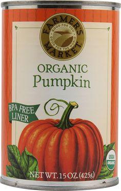 Farmer's Market Organic Canned Pumpkin Puree