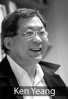 "Architect Ken Yeang of Malaysia, one of the ""green architects"" created the ""bioclimatic skyscraper,"" a type of high-rise now used in various cities that performs as a passive low-energy building by being designed according to its particular location and the local climate. Yeang also coined the phrase ""eco-mimicry"" to describe the process of designing buildings to imitate nature. He says, ""If you don't imitate nature, you're going against it."""