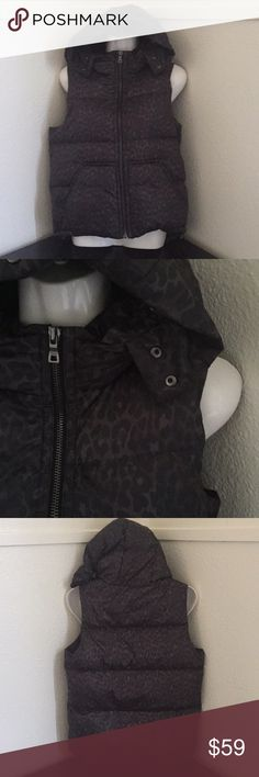 """Coach puffer vest Brown animal print. Fur is missing. In new condition with tag armpit to armpit 20 1/2 """" Coach Jackets & Coats Vests"""