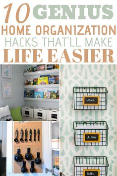 These 10 Super easy home organization hacks will make your life easier. I'm so glad I found this Awesome post on home organization hacks and it's simply brilliant. Definitely Pinning these home organization hacks for Later. Organizing Hacks, Organizing Your Home, Organising, Decluttering Ideas, Cleaning Hacks, Home Organization Hacks, Bathroom Organization, Home Renovation, Home Remodeling