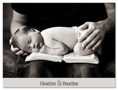 Wish I had seen this when my son was this small!!! Landree is resting under the protective hands of her earthly father, while resting on the promises of her eternal Father. It's a picture of the way God intended it to be for all of us.