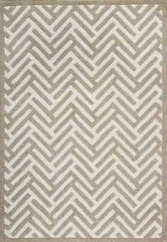 Geo Shapes Collection Classy Zigzags Grey Rug