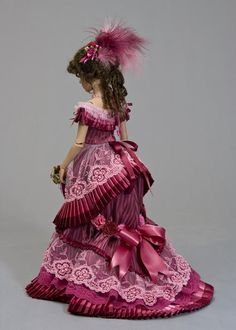 Dusty Wine Victorian Ballgown