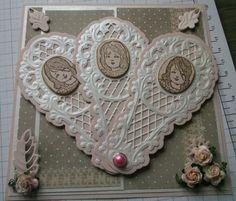 Kaartengalerij - Marianne Design - Easel and Fan using Marianne Creatables Design Dies