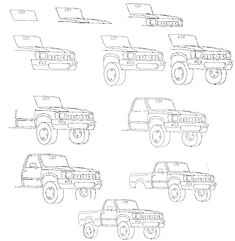1981 chevy pickup truck drawings