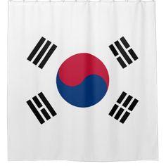 South Korea flag Shower Curtain - shower curtains home decor custom idea personalize bathroom